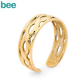 9 ct Gold Toe Ring with Plait