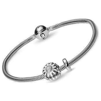 Christina Watches silver bracelet with silver daisy
