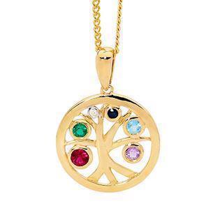 Bee Jewellery Tree of Life 9 karat guldhänge, modell 65618-Multi