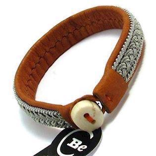 BeChristensen handmade SAMER leather bracelet, Classic 2 Bark Brown