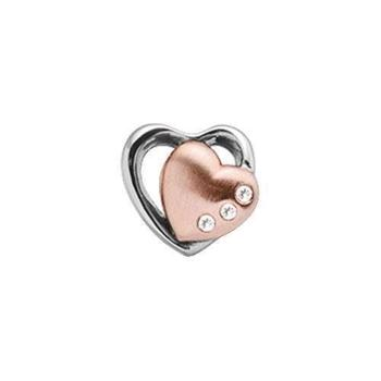 Christina Collect Topaz 2-Hearts rose ring