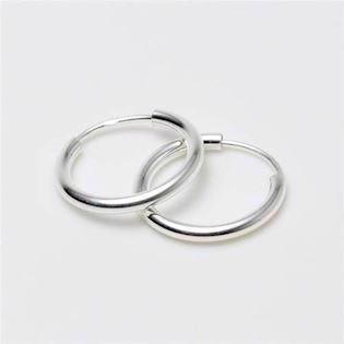 Silver creol earings 20 mm og 2,0 mm, model 2926515