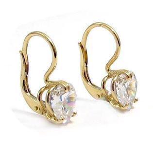 14 ct heart shaped cubic zirconias Earrings