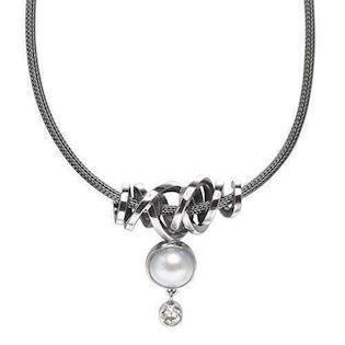Rabinivich 45216501, Silver pendant with pearls