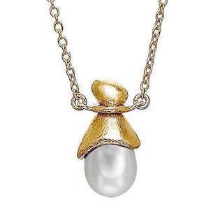 Rabinovich 36621101, gold platted necklace with pearl