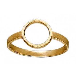 Zöl 33516600, Gold platted ring with a circle