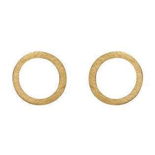 Zöl 33721500, Goldplatted circle Earrings