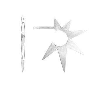 "Zöl 48511400, Silver Earrings ""Star Spike"""
