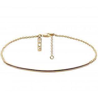 "Zöl 52720800, Gold platted anklet, ""Pipe"""