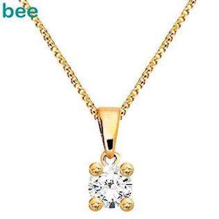 Bee Jewelry Solitaire 0,05 ct I-P1 Pendant, model 60985_B05