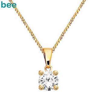 Bee Jewelry Solitaire 0,15 ct I-P1 Pendant, model 60985_B15