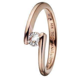 Christina Collect Rose golden charm Fingerrings, model 3.14.C