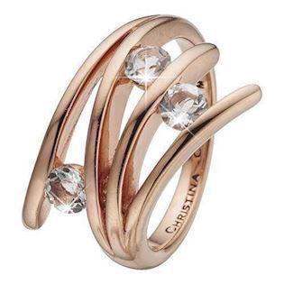 Christina Collect Rose golden charm Fingerrings, model 4.1.C