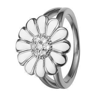 Christina Collect White Marguerite ring med 7 topas