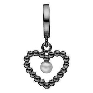 Christina Collect Black silver charm, model 610-B59