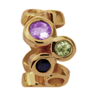 Christina Collect Multi Gemstone gold ring