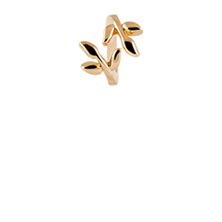 Christina Collect Laurel Leaf gold ring