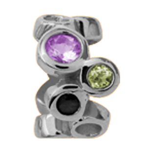 Christina Collect Multi Gemstone silver ring