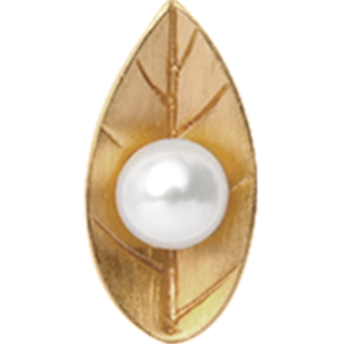 Christina Collect Pearl Leaf gold ring