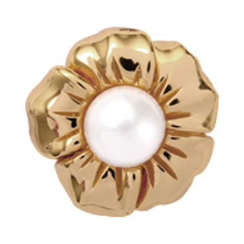 Christina Collect Pearl Flower gold ring