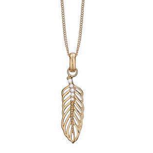 Christina Collect Topaz Feather Förgyllt Halsband