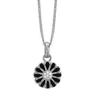 Christina Collect Black Marguerit Halsband i Sterling Silver