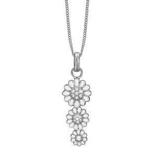 Christina Collect Triple Marguerite Silver Halsband med Topaz