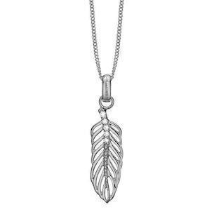 Christina Collect Large Topaz Feather silver halsband