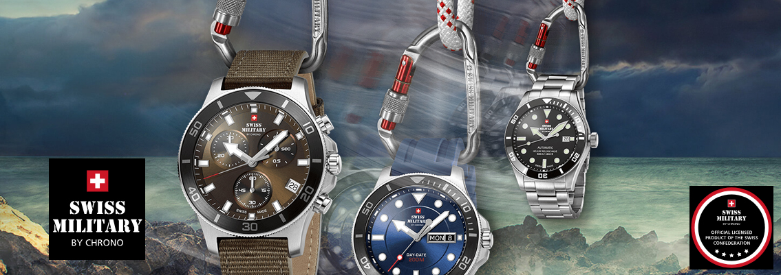 Lækre Swiss made ure hos Ur-Tid - Swiss Military by Chrono - Køb her