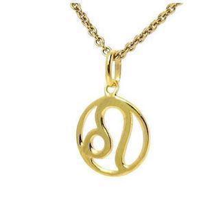 Zodiac pendant in goldplated sterling silver