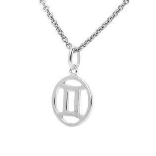 Zodiac pendant in sterling silver