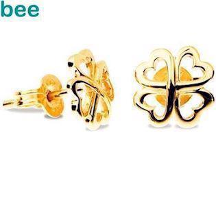 Cute Clover Earrings - in 9 ct Gold