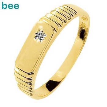 9 ct Gold Men's Dress Ring with Diamond