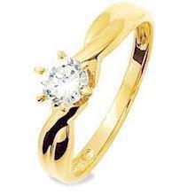 Cubic Zirconia solitaire ring in 9 ct. gold