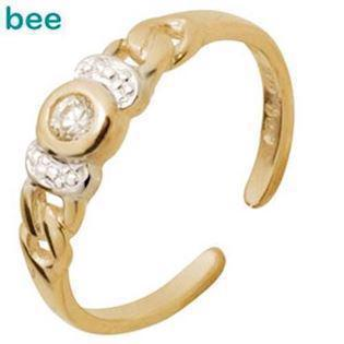 9 ct Gold toe ring with Cubic Zirconia