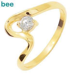 9 ct swing ring w / 4 mm zirconia