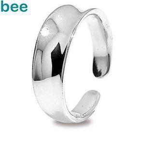 Concave Silver toe ring