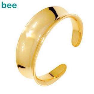 9 ct Shiny flared 9 ct. gold toe ring