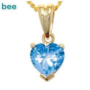 Heart Shape blue topaz Pendant